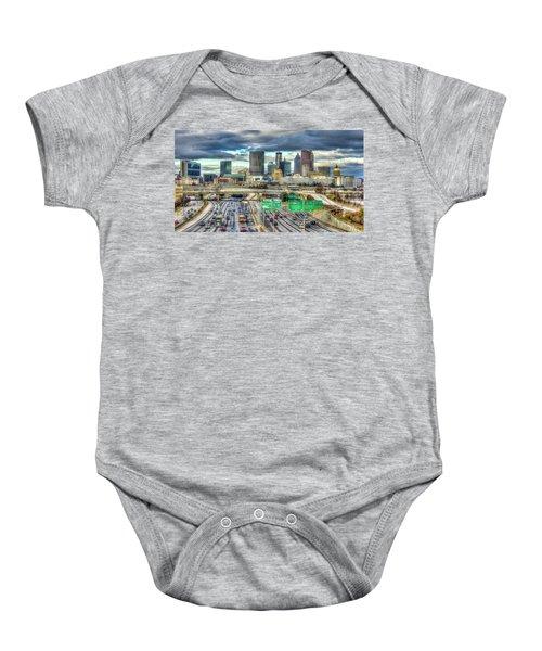 Capital Of The South Atlanta Skyline Cityscape Art Baby Onesie
