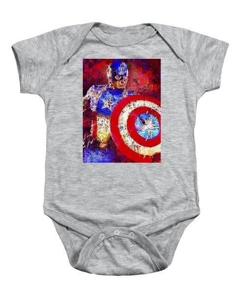Captain America Baby Onesie