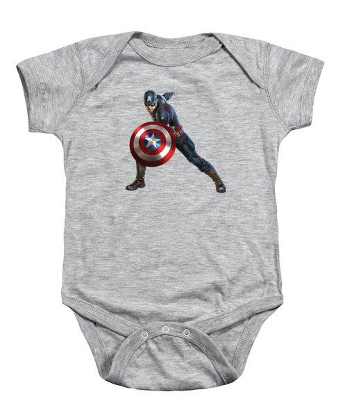 Captain America Splash Super Hero Series Baby Onesie