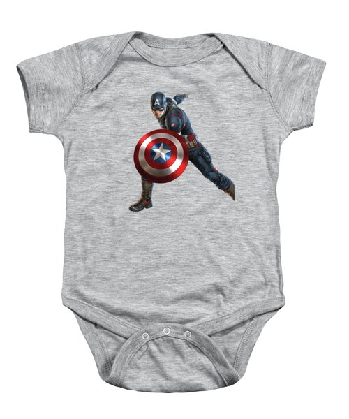 Captain America Splash Super Hero Series Baby Onesie