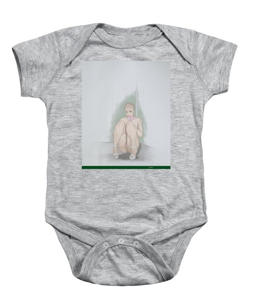 Baby Onesie featuring the mixed media Captive by TortureLord Art