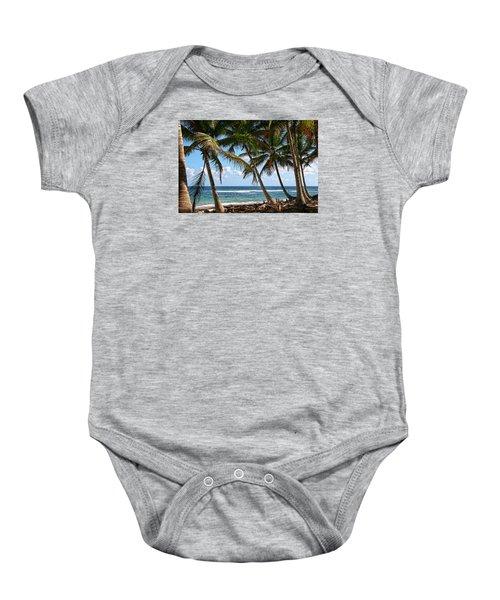 Caribbean Palms Baby Onesie