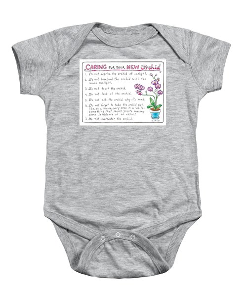 Caring For Your New Orchid Baby Onesie
