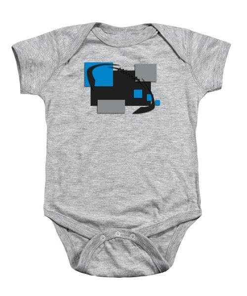 Carolina Panthers Abstract Shirt Baby Onesie by Joe Hamilton