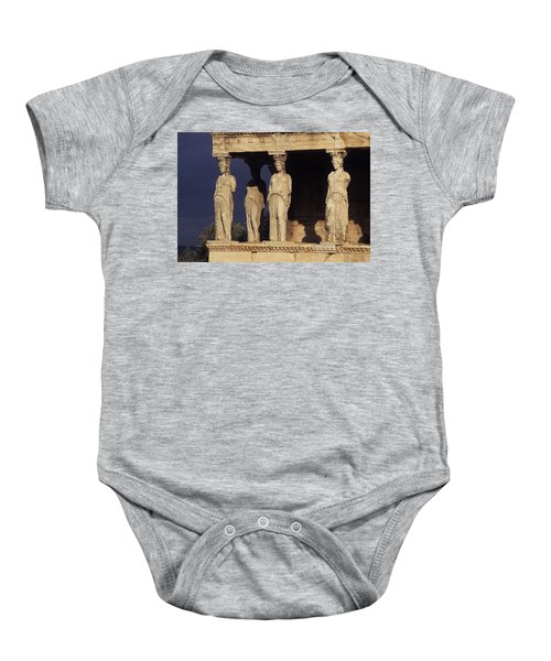 Caryatides At The Acropolis Baby Onesie