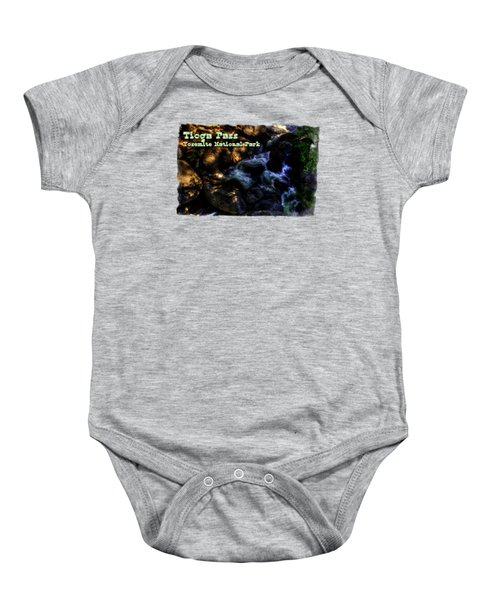 Cascade Along The Tioga Pass Yosemite Baby Onesie by Roger Passman