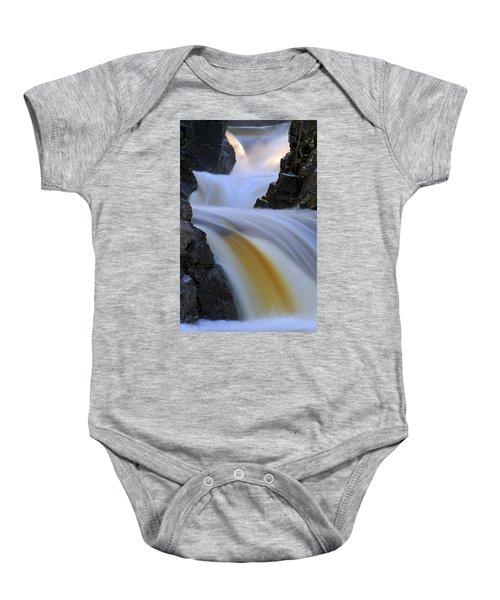 Cascade At Dawn Baby Onesie