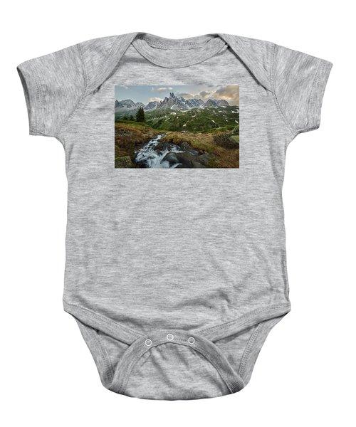 Cascade In The Alps Baby Onesie