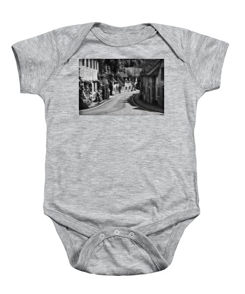 Castle Combe England 2 Bw  Baby Onesie by Mike Nellums
