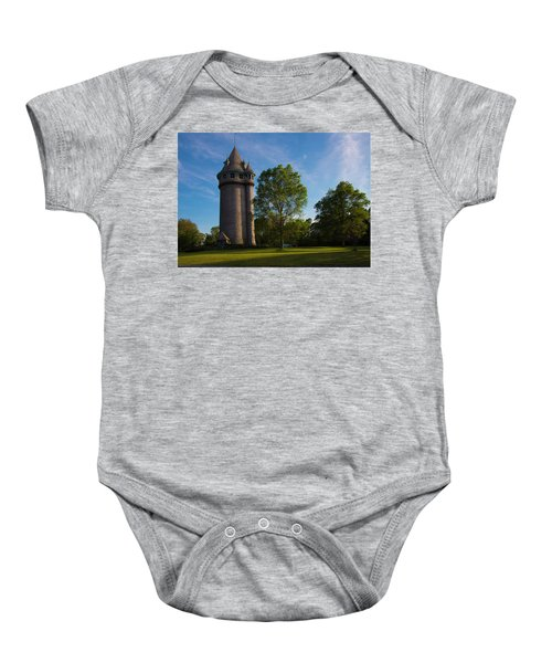 Castle Turret On The Green Baby Onesie