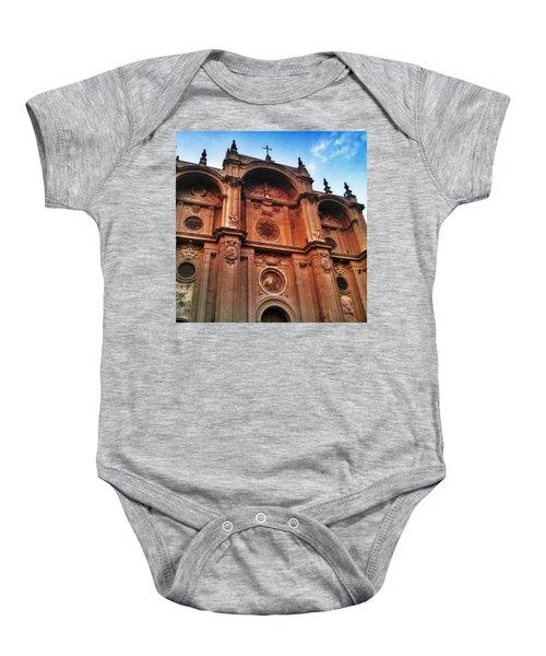 Catedral De #granada View From Plaza Baby Onesie