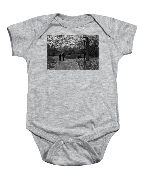 Cathedral Park In Fall Bw Baby Onesie