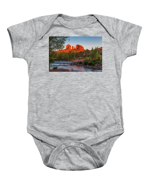 Cathedral Rock At Red Rock Crossing Baby Onesie
