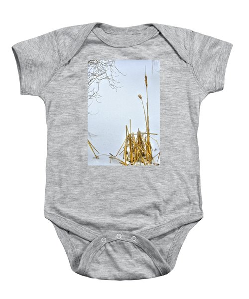 Cattails In Winter Baby Onesie
