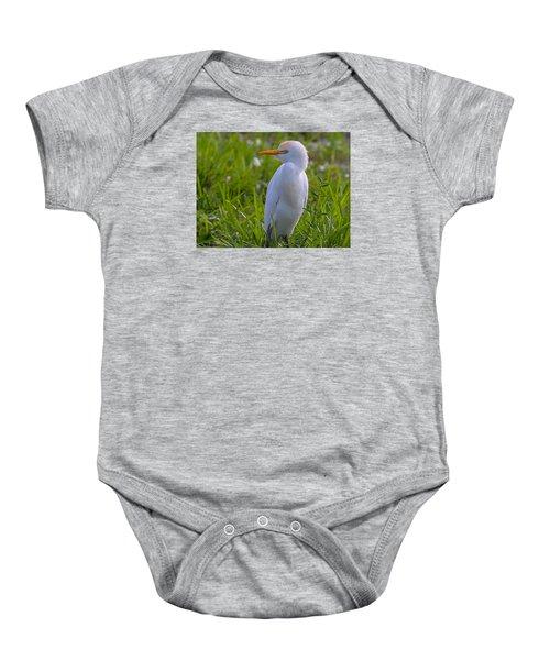 Cattle Egret Baby Onesie