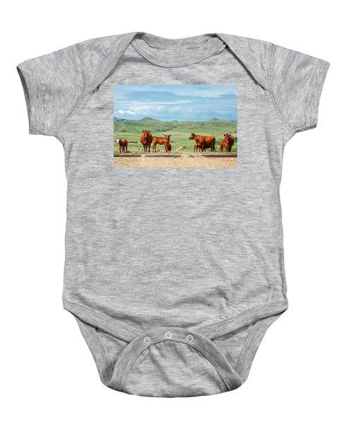 Cattle Guards Baby Onesie