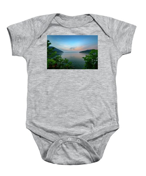 Cave Run Morning Baby Onesie