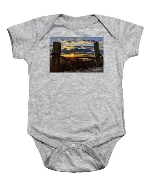 Chained View Baby Onesie