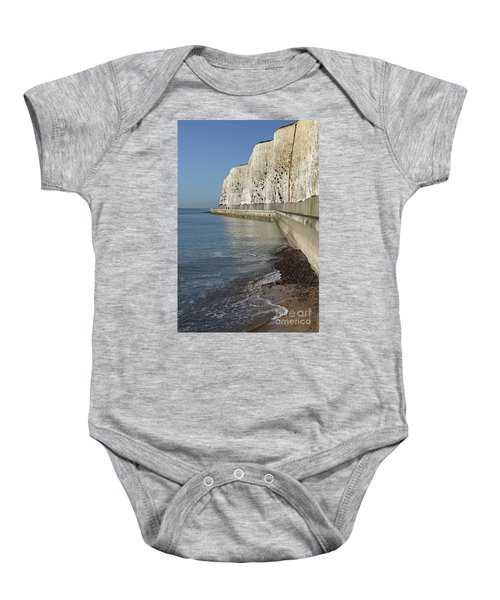 Chalk Cliffs At Peacehaven East Sussex England Uk Baby Onesie