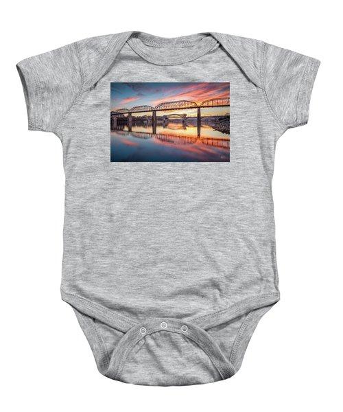 Chattanooga Sunset 5 Baby Onesie