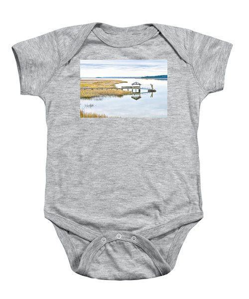 Chechessee Creek Dock Baby Onesie