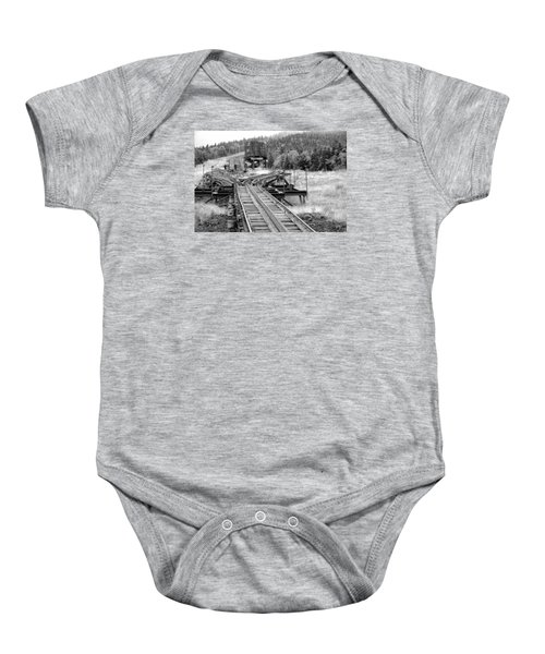 Checking The Rails Baby Onesie