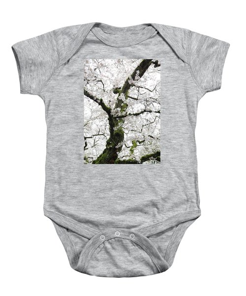 Baby Onesie featuring the photograph Cherry Blossoms 119 by Peter Simmons