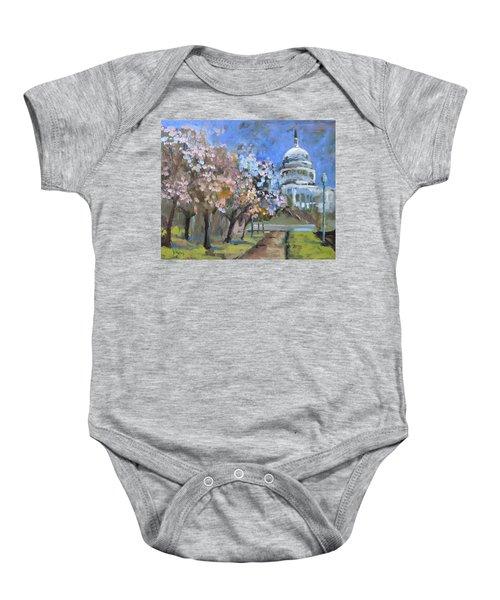 Cherry Tree Blossoms In Washington Dc Baby Onesie