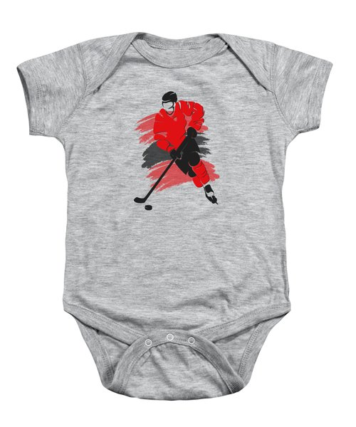 Chicago Blackhawks Player Shirt Baby Onesie by Joe Hamilton