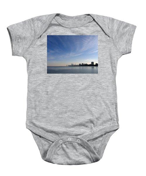 Chicago Skyline Baby Onesie