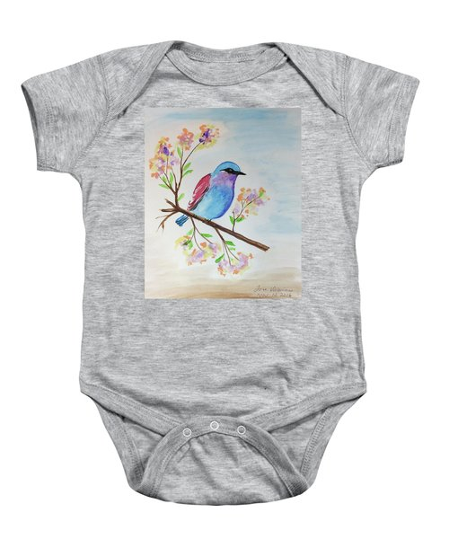 Chickadee On A Branch Baby Onesie