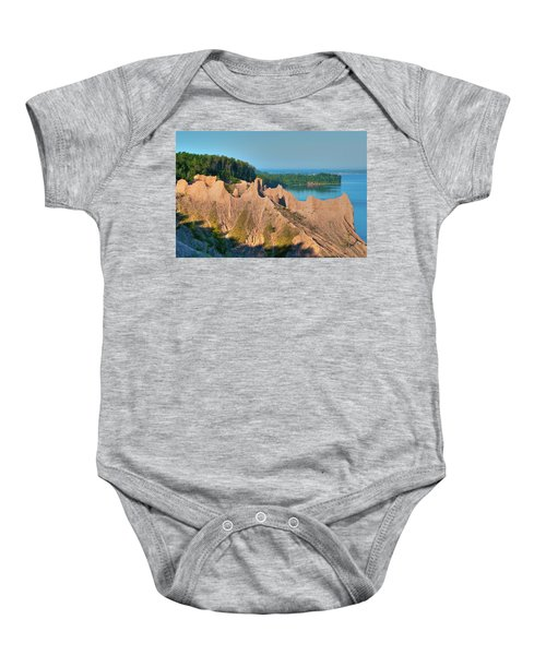 Chimney Bluffs 1750 Baby Onesie