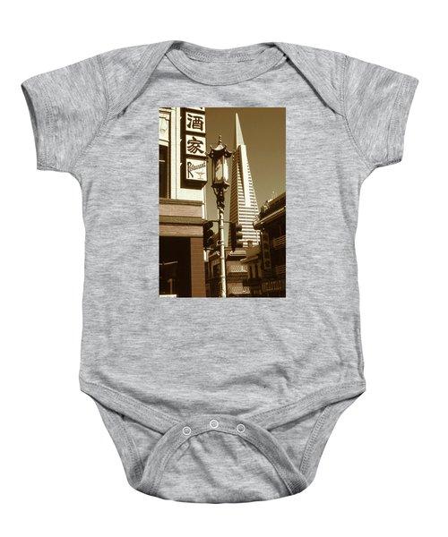 Chinatown San Francisco - Vintage Photo Art Baby Onesie