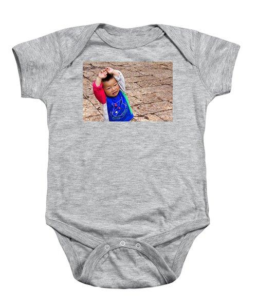 Chinese Boy Joy Baby Onesie