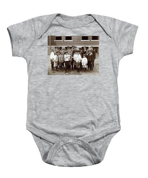 Choosing Baseball Teams Baby Onesie