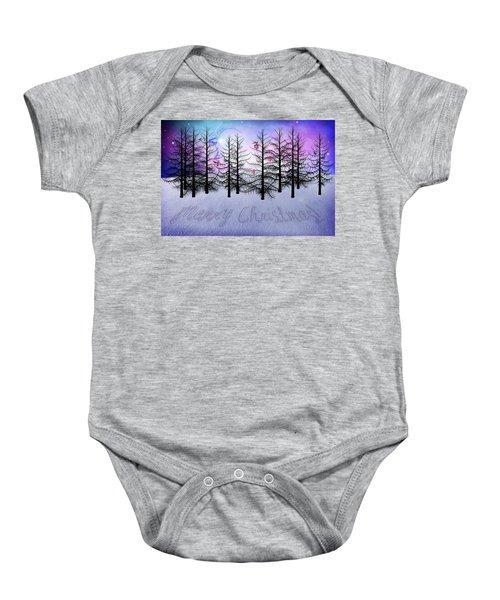Christmas Bare Trees Baby Onesie