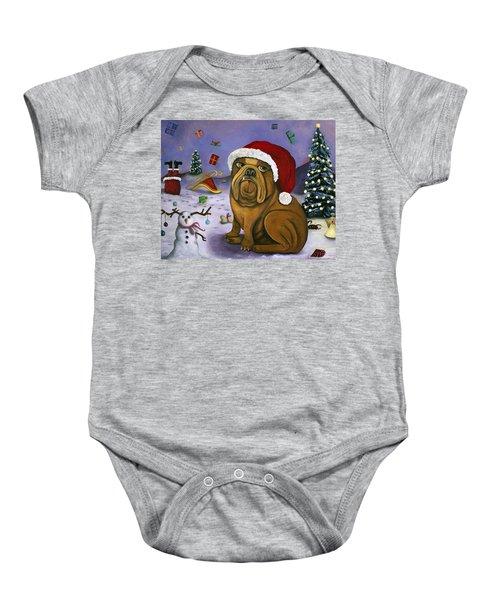 Christmas Crash Baby Onesie