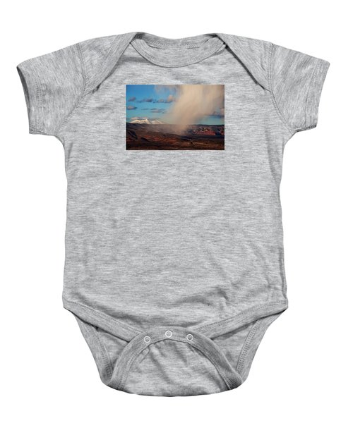 Christmas Day Snow Mix San Francisco Peaks Baby Onesie