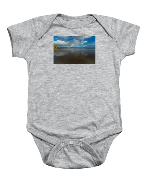 Baby Onesie featuring the photograph Christmas Eve Early Gifts by Lora Lee Chapman