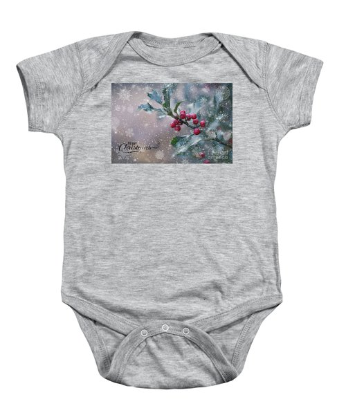 Christmas Holly Baby Onesie