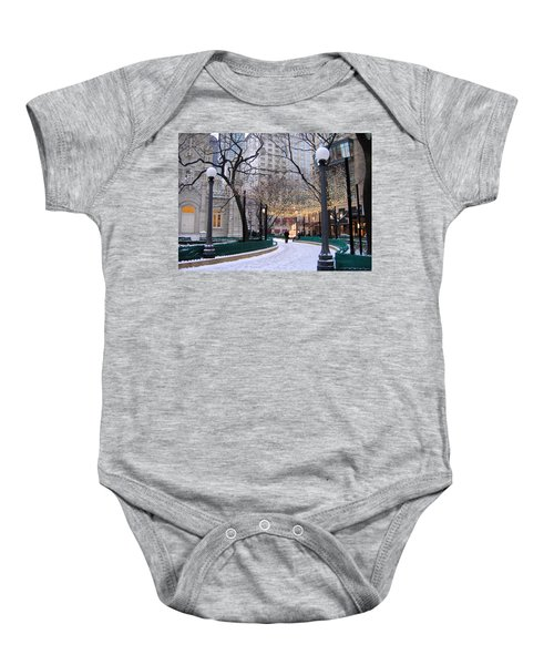 Christmas In Chicago Baby Onesie