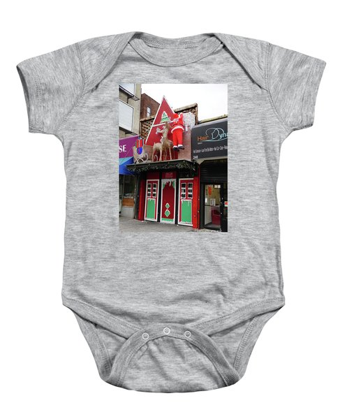 Christmas On Sherman Avenue  Baby Onesie by Cole Thompson