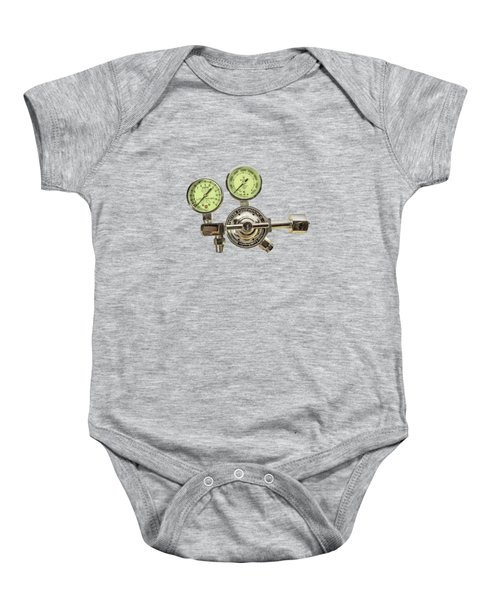 Chrome Regulator Gauges Baby Onesie