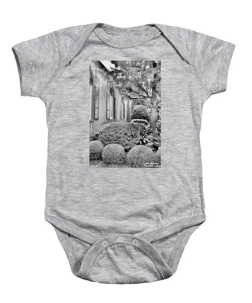 Church Of The Cross Bluffton Sc Black And White Baby Onesie