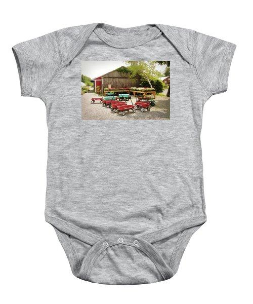 Circle The Wagons Baby Onesie