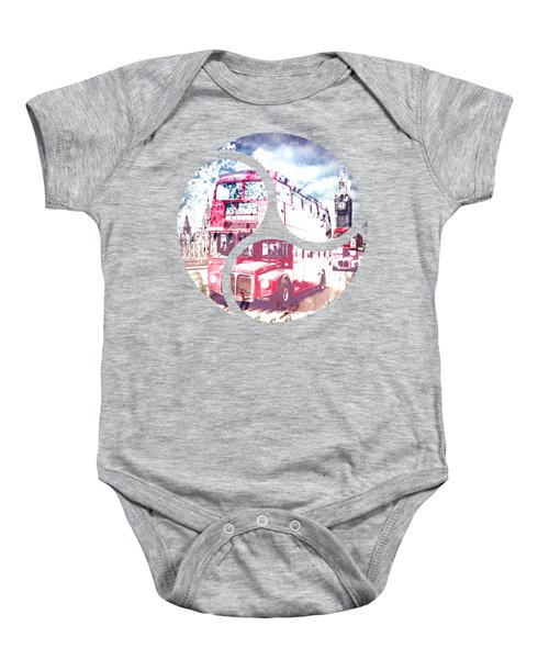 City-art London Red Buses On Westminster Bridge Baby Onesie by Melanie Viola