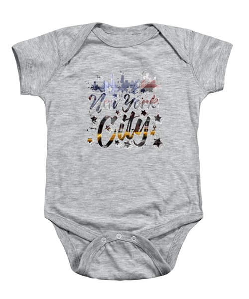 City-art Nyc Composing - Typography Baby Onesie by Melanie Viola
