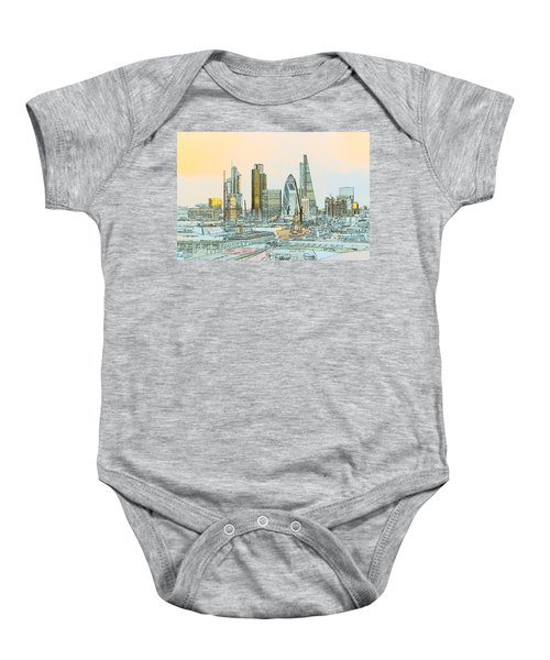 City Of London Outline Poster  Baby Onesie