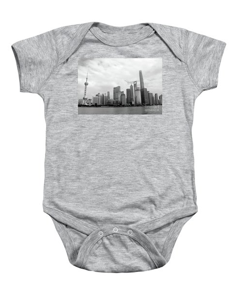 Baby Onesie featuring the photograph City Skyline by MGL Meiklejohn Graphics Licensing