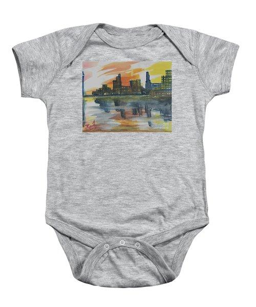 Cityscape Baby Onesie